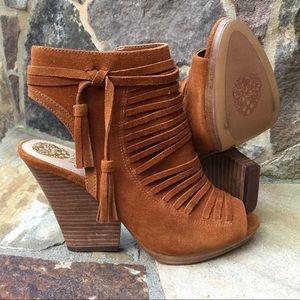 New-Vince Camuto-peep toe tassel boots Size-8.5
